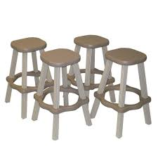 taupe resin patio high bar stools set of 2 high bar stools o94