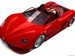 Red Ferrari Aurea-Spider On A White Background, The Top View Photo