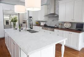 accessories inspirations white theme modern kitchen using white granite countertop under double shade drum