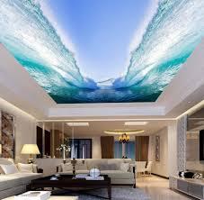3d Ceiling Design Wallpaper Amazon Com Yynight 3d Wall Mural Wallpaper Seawater Huge