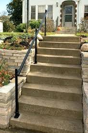 handrails for outdoor steps how to install an outdoor aluminum handrail handyman club scout stainless steel