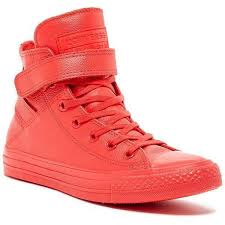 converse leather full red high top cut sneakers size 36 5 women s fashion shoes sneakers on carou