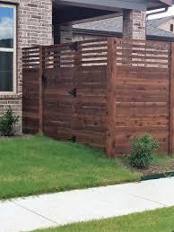 Custom Privacy Fence Designs Custom Cedar Horizontal Fence Installed By Titan Fence