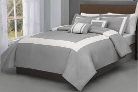 king cal king size forte 5 pieces gray w ivory comforter set bed