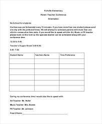 Parent Teacher Conference Form Template Sample Parent Teacher Conference Forms Magdalene Project Org