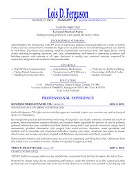 Lpn Resumes Examples Practical Nursing Resume Templates Registered
