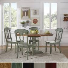 eleanor sage green solid wood oval table napoleon back 5 piece dining set by inspire