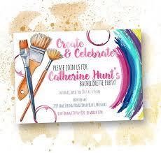 Create Celebrate Paint Party Invitation Paint And Sip
