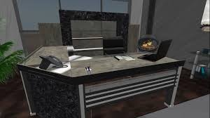chrome office desk. Chrome Executive Desk W/chair Office
