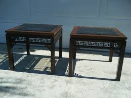 fretwork furniture. Pair Of Vintage Gordon\u0027s Fine Furniture Chinese Chipendale Fretwork End SideTables G