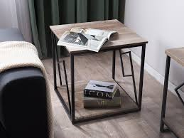 coffee table dark wood and black forres