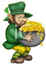 with a pot of gold   royalty free clipart pictureleprechaun with a pot of gold   royalty free clipart picture