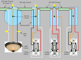 wiring diagram for switch power enters at light fixture box proceeds to first switch proceeds to second switch proceeds to switch at end of circuit