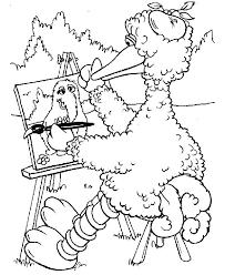 Sesame Street Coloring Page Coloring Printable Sesame Street