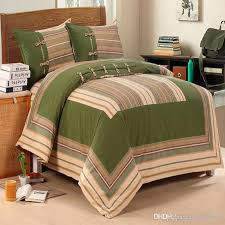 4pcs set 100 cotton plain weave fabric beddding set country style brief duvet cover bed sheet pillowcases home bedding stripe queen size