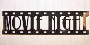 Small Picture New Metal Wall Art Home Theater Decor Contemporary Movie Sign