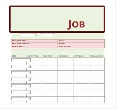 Job Card Sample Doc Free Job Card Template Node2002 Cvresume