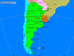 Argentina and Uruguay Political Map - A Learning Family