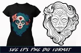 These free svg cutting files are compatible with cricut, cameo silhouette and other major cut machines. Pin Up Sugar Skull Graphic By Craft N Cuts Creative Fabrica