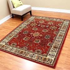 red area rug 5x7 rugs oriental fl design rusty and black