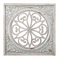galvanized metal medallion wall plaque