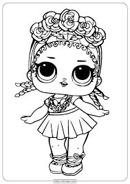 Doll coloring pages for kids. Lol Surprise Doll Coloring Sheets Coconut