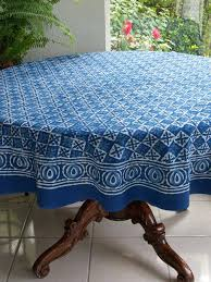 round cotton tablecloth batik blue and table cloth showcases an exquisite print whose striking star like