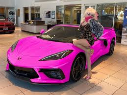 The value of the chevrolet corvette is greatly impacted by the model year and type of trim, which can affect insurance rates. Pics The Real Deal Angelyne S Pink C8 Corvette Breaks Cover Corvette Sales News Lifestyle