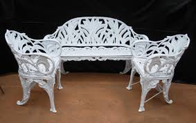 white wrought iron garden furniture. Enlarge Photo White Wrought Iron Garden Furniture E