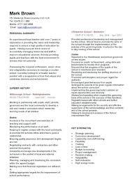 English Teacher Cv Head Teacher Cv Is A Cv Different Than A Resume What Is  A ...