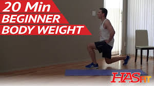 20 min beginner body weight workout at home easy workouts without weights bodyweight exercises