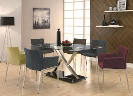 coaster modern dining contemporary dining room set with gl table coaster fine furniture