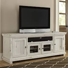 white tv stand. Interesting White 74 Inch Distressed White TV Stand  Willow Throughout Tv