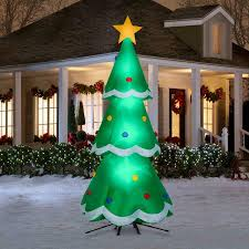 Inflatable Christmas Tree With Lights Details About Gemmy 10 5 Ft Lighted Christmas Tree Christmas Inflatable New Design For 2019