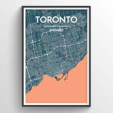 Map Design Toronto City Map Map Art Toronto City Art Toronto
