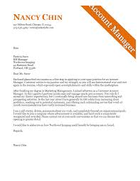 Cover Letter Example For An Account Manager Example Cover