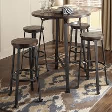 ashley signature design challiman piece round bar table set