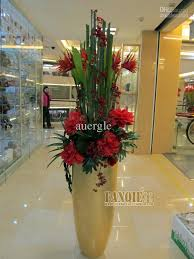 Large floor vase set modern fashion decoration set artificial floral flower