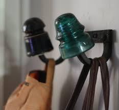 diy wall rack repurposed antique electrical insulator bracket
