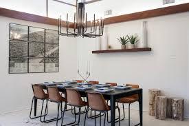 elegant dining room lighting. Mid Century Modern Dining Lighting Elegant Room Setting With Rectangle Grey Table And Impressive Pendant Lamp