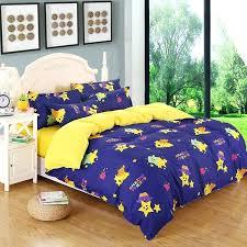 light blue duvet cover twin xl cartoon children blue yellow brief style duvet cover sets bedding