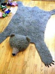 fake bear skin rug s faux canada uk with head for