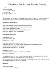 Sample Resume Driver Bus Cover Letter