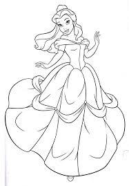 Small Picture Fresh Princess Belle Coloring Pages 92 On Gallery Coloring Ideas