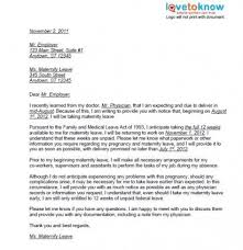 How To Write A Maternity Leave Letter For Work Printable Examples Of Maternity Leave Letters Pregnancy Babies