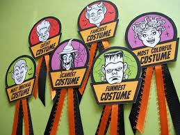 Best Halloween Costume Award Halloween Costume Award Badges Cute Monster Prize And Contest Etsy