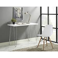 42 inch hairpin leg wood writing desk white free today com 22268414