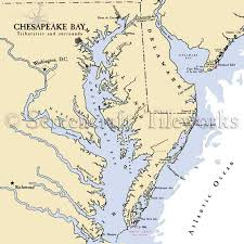 Chesapeake Bay Maps Charts Virginia Chesapeake Bay Nautical Chart Decor