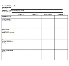 Lesson Plans Blank Template Sample Blank Lesson Plan 10 Documents In Pdf
