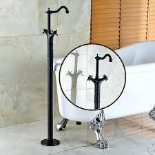 oil rubbed bronze freestanding tub filler. oil rubbed bronze dual cross handles floor mount bathroom bathtub faucet freestanding clawfoot tub filler mixerfree h
